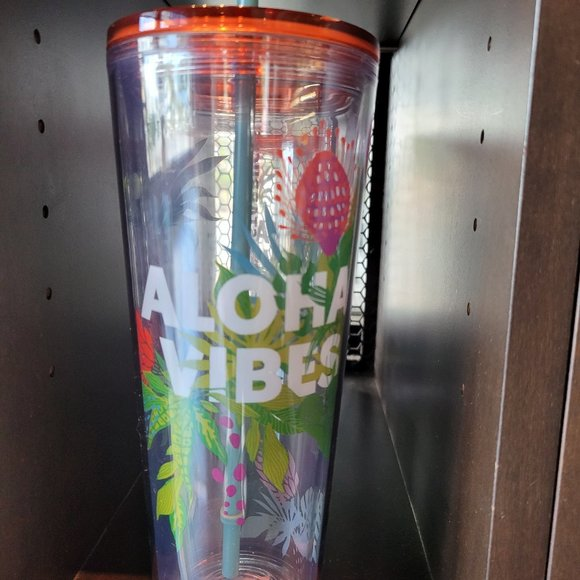 """New Starbucks HAWAII Collection """"ALOHA VIBES"""" 24oz"""
